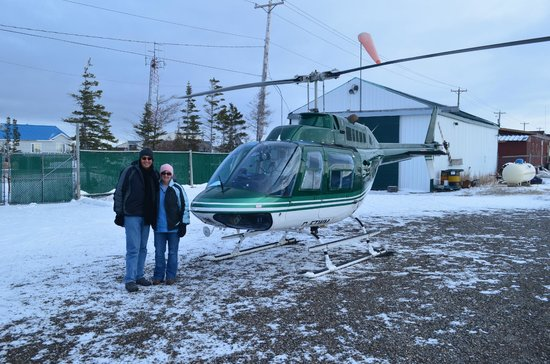 Hudson Bay: Just finished our helicopter flight.