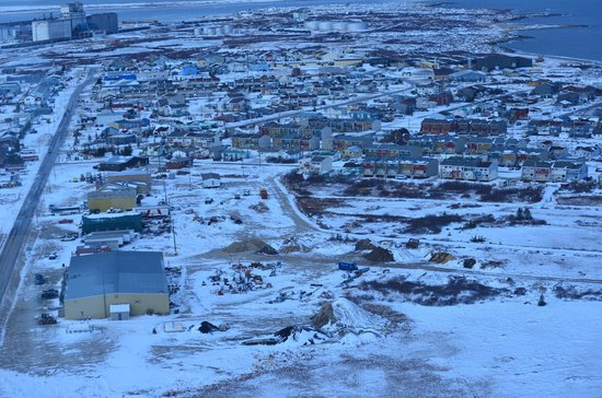 Hudson Bay: A view from the air of Churchill.