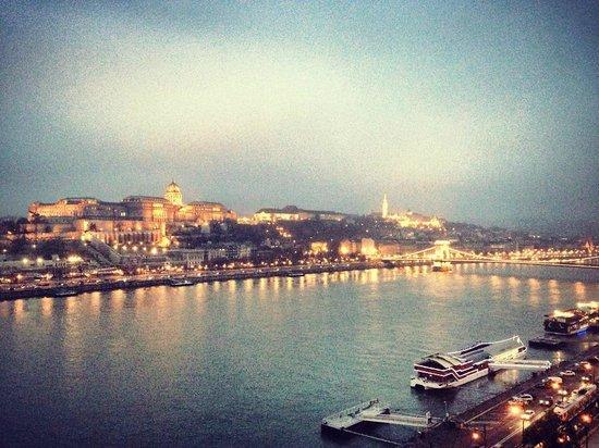 Budapest Marriott Hotel: Вид на Дунай