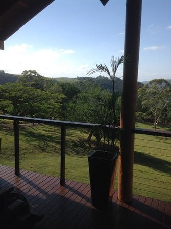 Maleny Tropical Retreat: View from the balcony of the chalet.