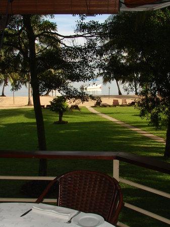 Langkah Syabas Beach Resort: view from Balcony Restaurant