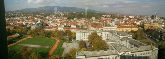 The Westin Zagreb: view from the conference room on the top floor
