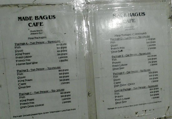 Made Bagus Cafe: Value for money!