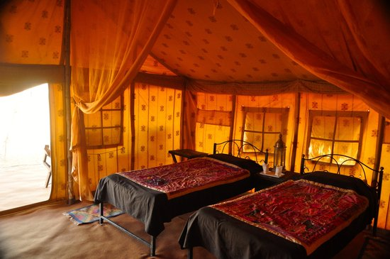 The Golden Camp : Tent interior