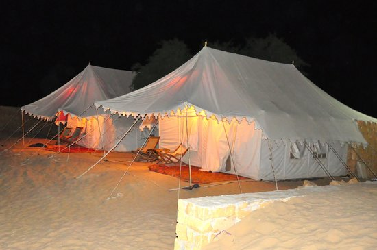 The Golden Camp : Tent Exterior