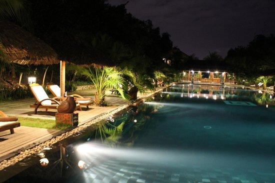 Pilgrimage Village: La piscine principale avec son bar