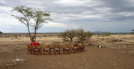 Pumzika Safari Camp: En torno al fuego de campamento