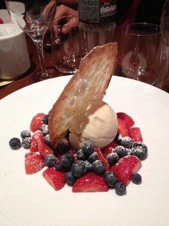 Bellagio : fruits rouges et glace à la vanille