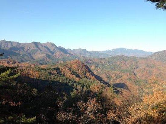 Shosen Gorge Ropeway : 山頂からの景色