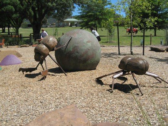 Yarra Glen Adventure Playground, McKenzie Reserve: Dung Beetle sculpture in McKenzie Reserve