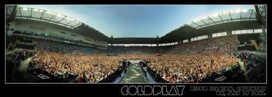 Ricoh arena: Coldplay, 2012