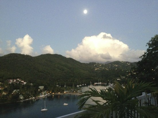 The Inn On The Bay: A little piece of paradise.  The view from the pool deck, overlooking Marigot Bay.