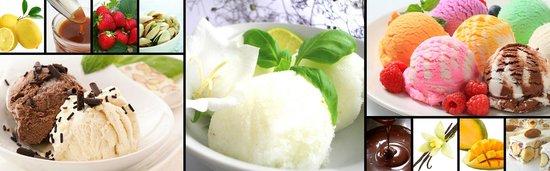 Une Crepe: Creme glacée et sorbets