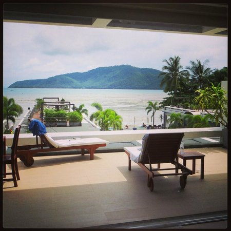 Serenity Resort & Residences Phuket: The balcony of the 2 bedroom apartment