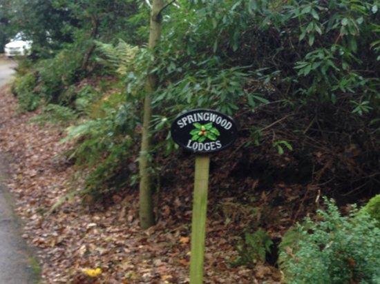 Spring Wood Lodges: Sign at entrance
