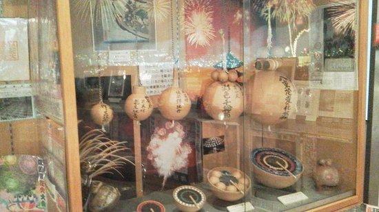Ryogoku Fire Works Museum: 打ち上げ用の筒