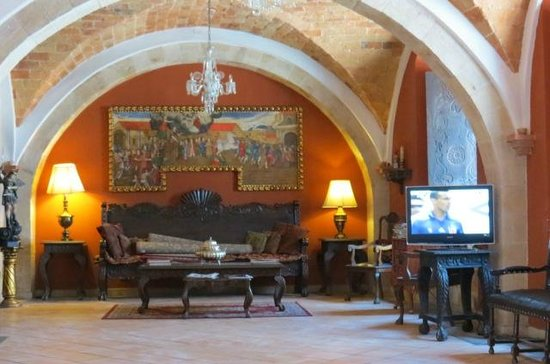 Parador Santa Maria la Real: Hall d'accueil