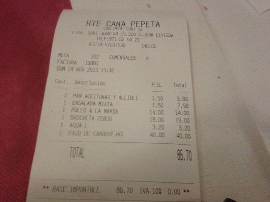 Cana Pepeta: correcto