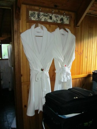 Knysna Tonquani Lodge & Spa : Robes in Dressing Room - Room 4