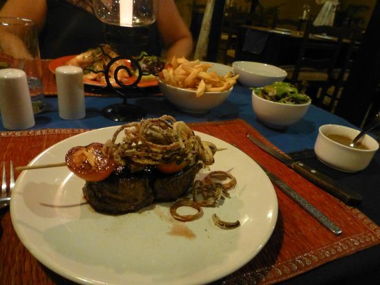 The Bistro: Fillet steak cooked just right