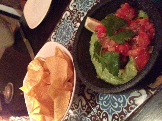 Maya: Homemade guacamole and chips