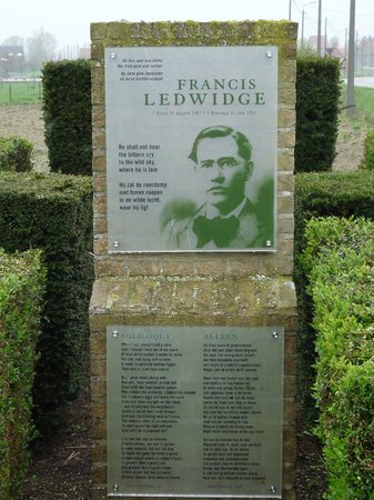 Artillery Wood Cemetary: Memorial to Poet Francis Ledwidge