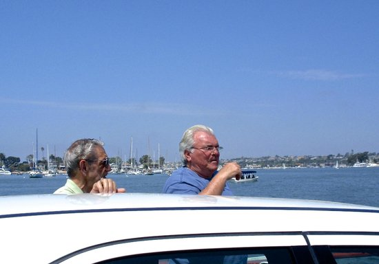 Balboa Island Ferry : Get out of car and enjoy the view.