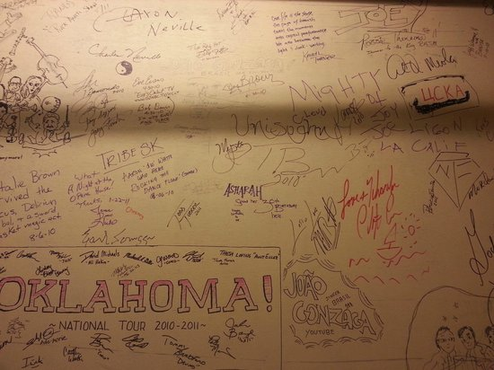 Newberry Opera House : Signature wall in the Greenroom