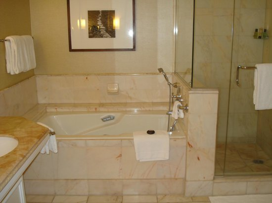 Four Seasons Resort Maui at Wailea: Tub and shower of garden view room