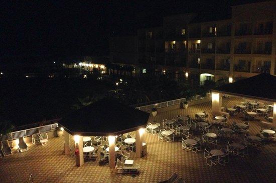 Hilton Garden Inn South Padre Island: The Pool Area At Night.