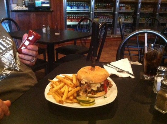 Angelina's Bar: The big Louie !! A one pound burger full of sooo much flavor !! A must have if you are a burger