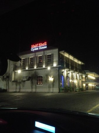 Outside look at the Half Shell Oyster House.