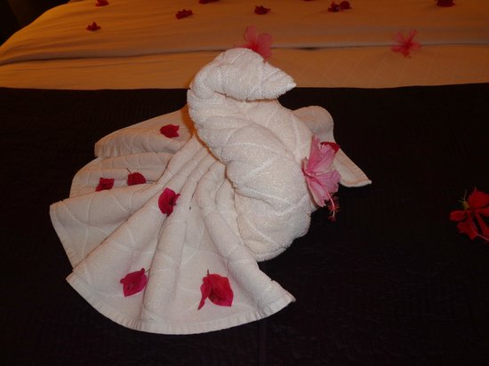 Buccament Bay Resort - TEMPORARILY CLOSED: Towel animals!