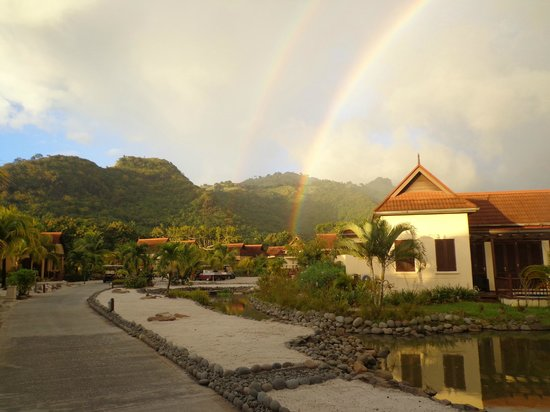 Buccament Bay Resort : Rainbow at Buccament Bay
