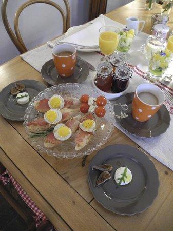 La Poule Bleue: Petit déjeuner