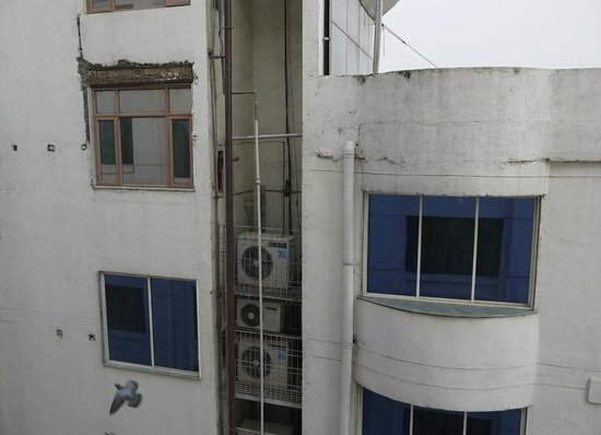 Radisson Hotel Varanasi: The view from our window.