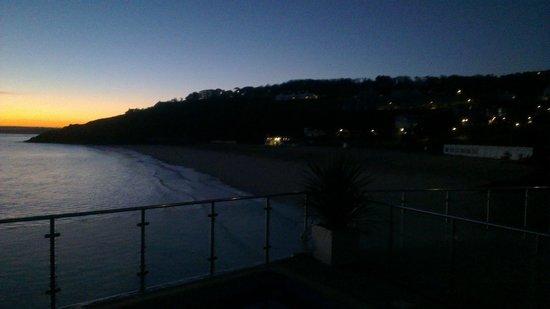 Pedn Olva Hotel : Morning sunrise from room 22
