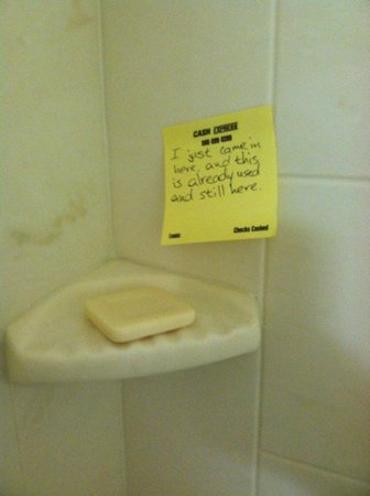Country Inn & Suites By Carlson, London : previous guest's full, used bar of soap