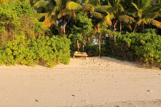Beachcomber Seychelles Sainte Anne : Notre lit de plage