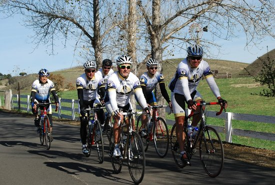 Santa Barbara Wine Country Cycling Tours - Day Tours: Our guides out on a preseason ride