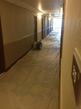 BEST WESTERN PLUS Hollywood/Aventura: Hall to my room was under construction