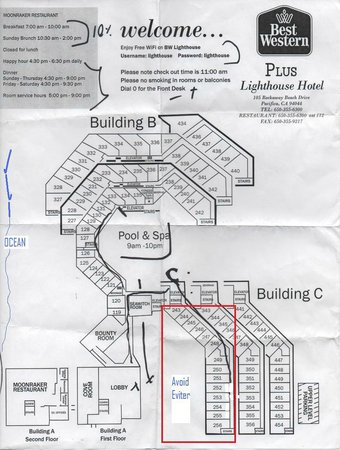 Best Western Plus Lighthouse Hotel: Hotel Map