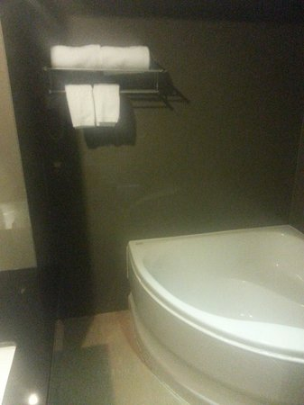 Bangkok City Hotel : toilet tub