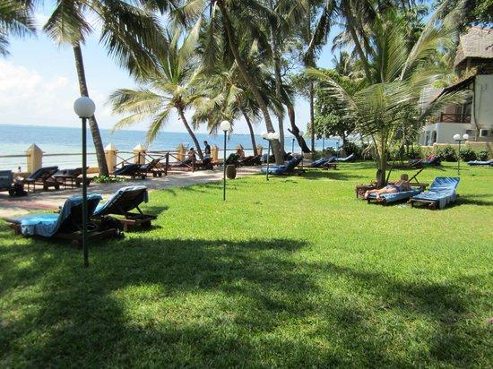 Neptune Beach Resort: Liegewiese