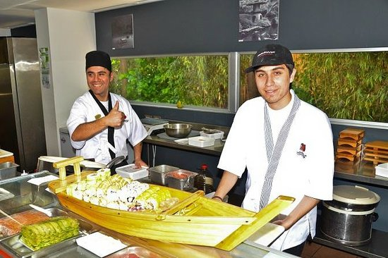"Sushihana: Their signature dish is a Sushi ""Boat"""