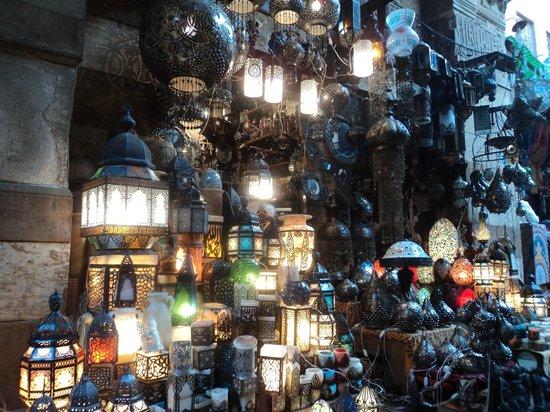 Khan Al-Khalili: egyptian lamps