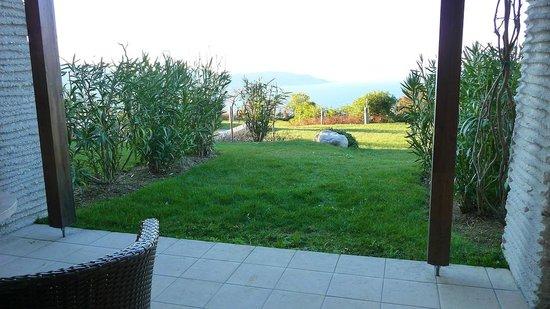 Lefay Resort & Spa Lago di Garda: Panorama dalla nostra camera piano terra