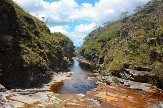 Conceição do Mato Dentro, MG: Cachoeira Tabuleiro - poço antes da queda