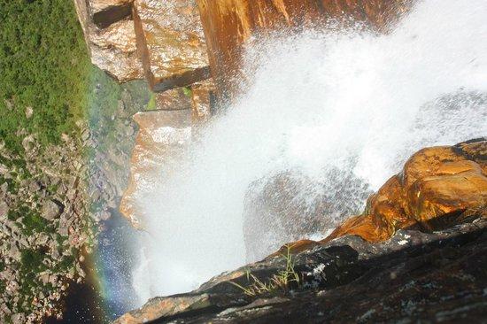 Conceição do Mato Dentro, MG: Cachoeira Tabuleiro - vista de cima