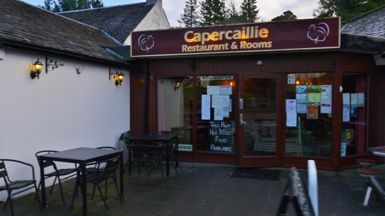 The Capercaillie: front of hotel